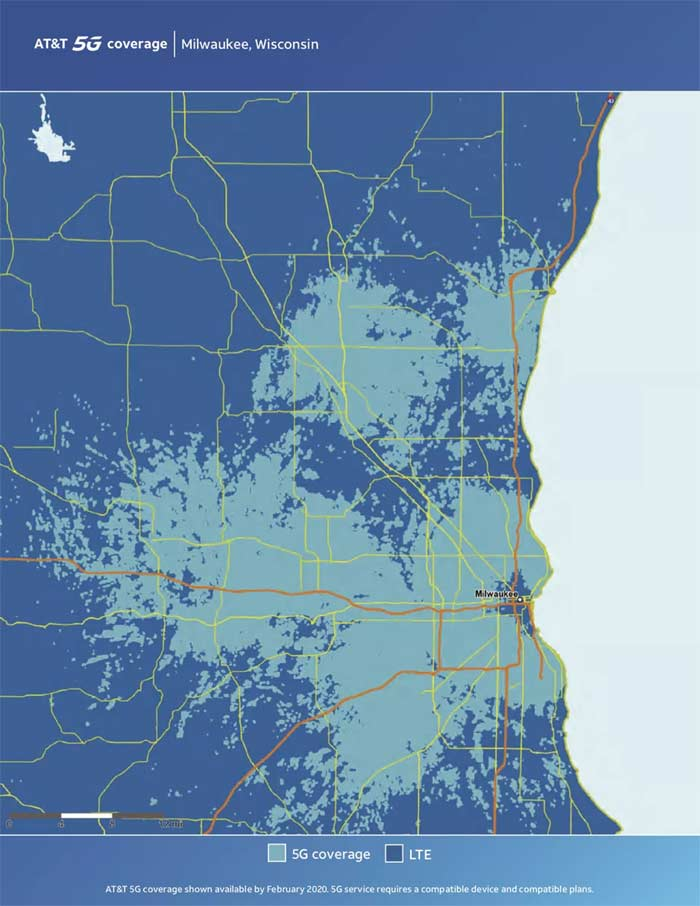 AT&T Milwaukee 5G Coverage