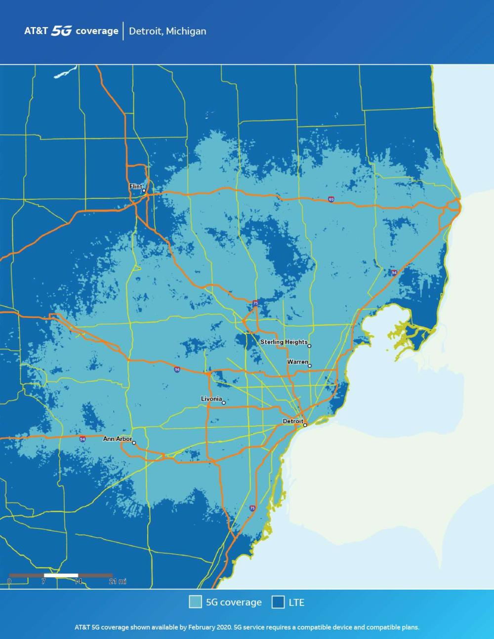AT&T Detroit 5G Coverage