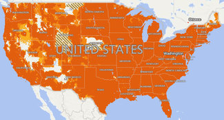 Map of AT&T 4G-LTE Coverage