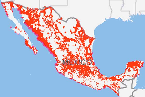 CellularMapscom Mexico Coverage Comparison - Us cellular coverage map vs verizon