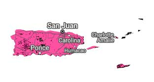 Map of Sprint Puerto Rico & USVI Coverage