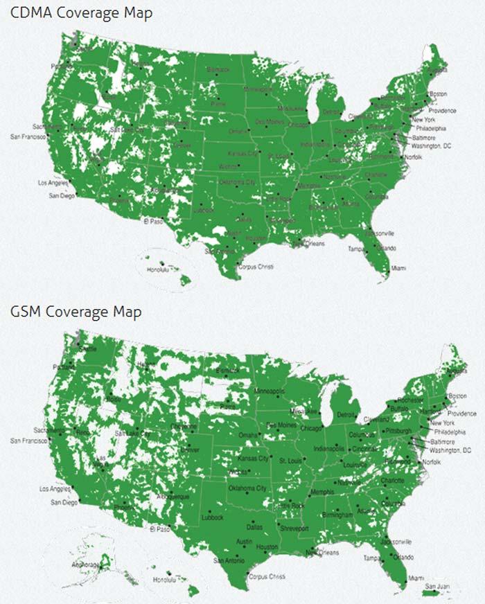 Web Site Map: TracFone Wireless Coverage